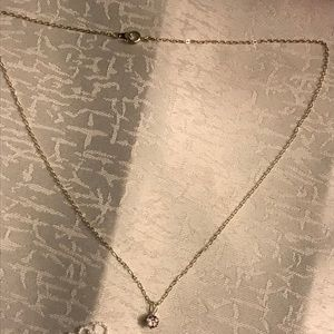 Jewelry - Silver necklace with purple stone charm